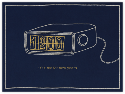 It's Time For New Years - Navy - Paperless Post