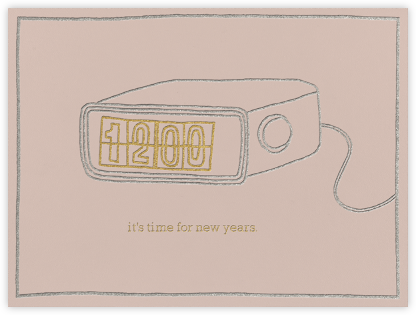 It's Time For New Years - Rose - Paperless Post -