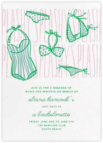 Splashy Splashy - Paperless Post - Bachelorette Party Invitations