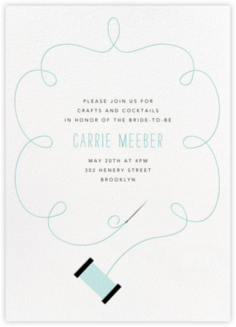 Needle and Thread - Paperless Post - Bridal shower invitations