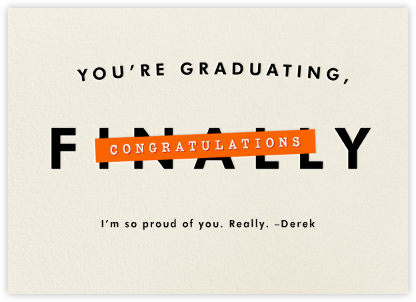 You're Graduating - Derek Blasberg -
