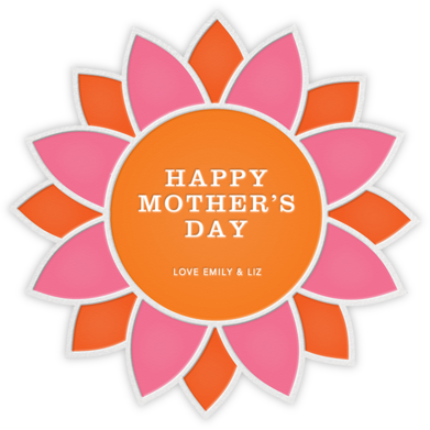 Sunflower - Pink and Orange - Jonathan Adler - Mother's day cards