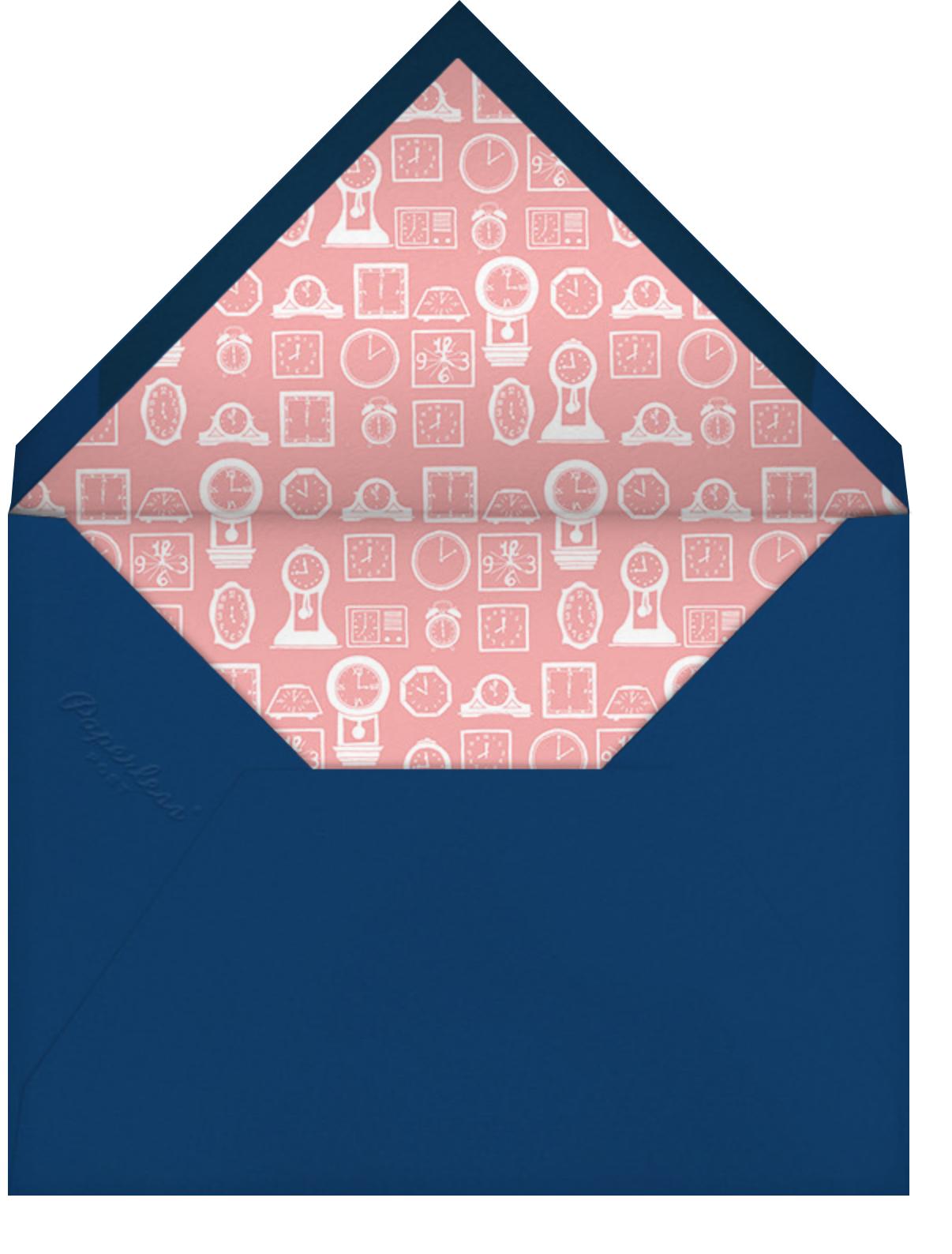 On The Hour - Paperless Post - Bridal shower - envelope back