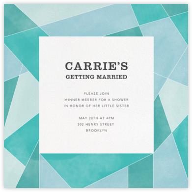Mosaic - Lagoon - Paperless Post - Bridal shower invitations