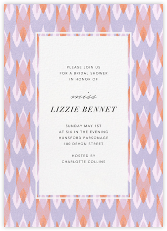 Ikat Arrow - Lilac - Paperless Post - Bridal shower invitations