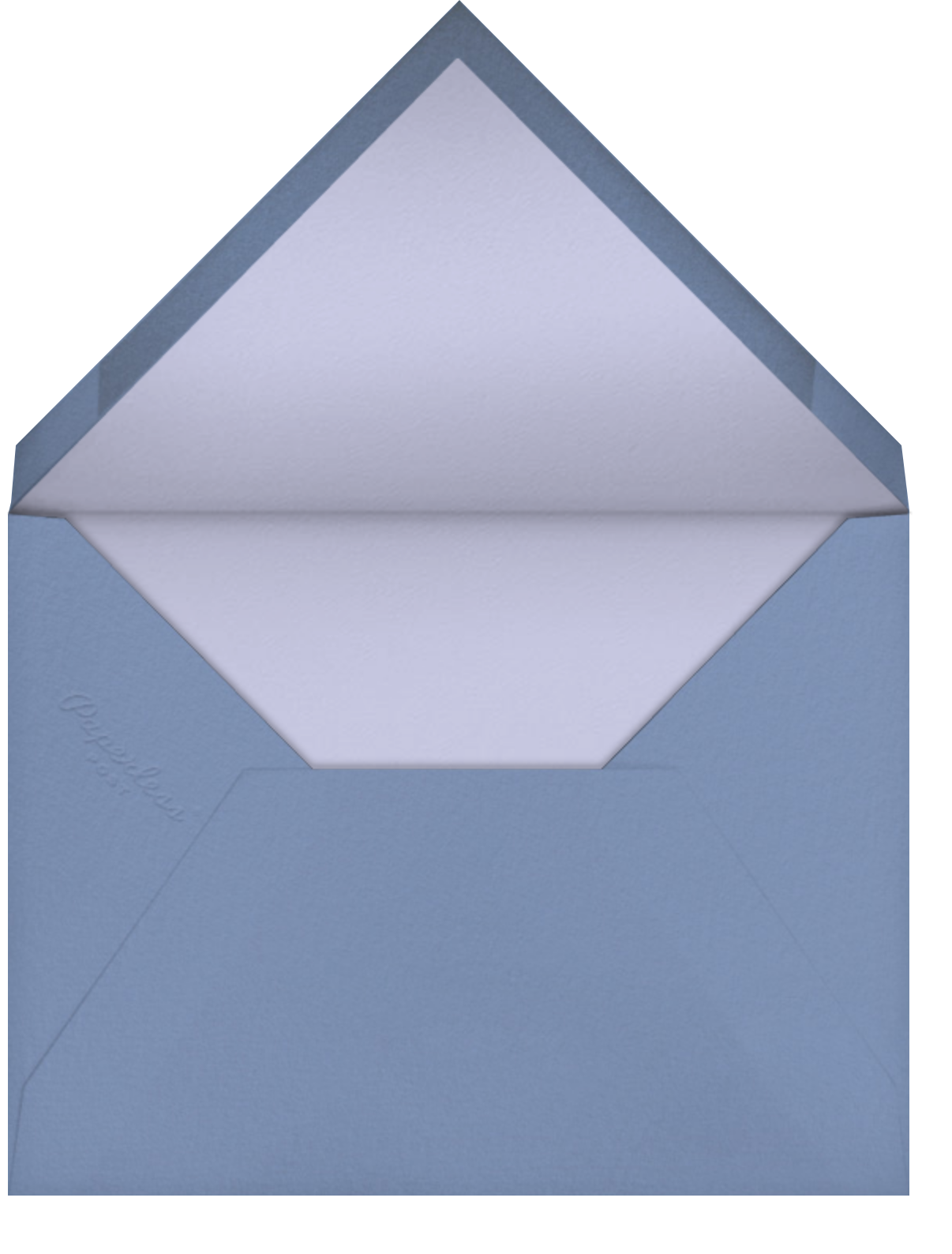 Ikat Diamond - Cornflower - Paperless Post - Envelope