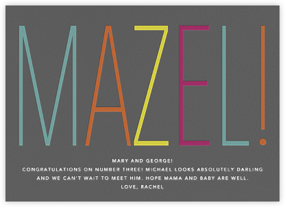 Mazel! - Congratulations (Baby) - Paperless Post - Congratulations cards