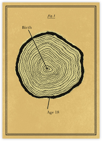 Tree Rings - Congratulations (Baby) - Paperless Post - Congratulations cards