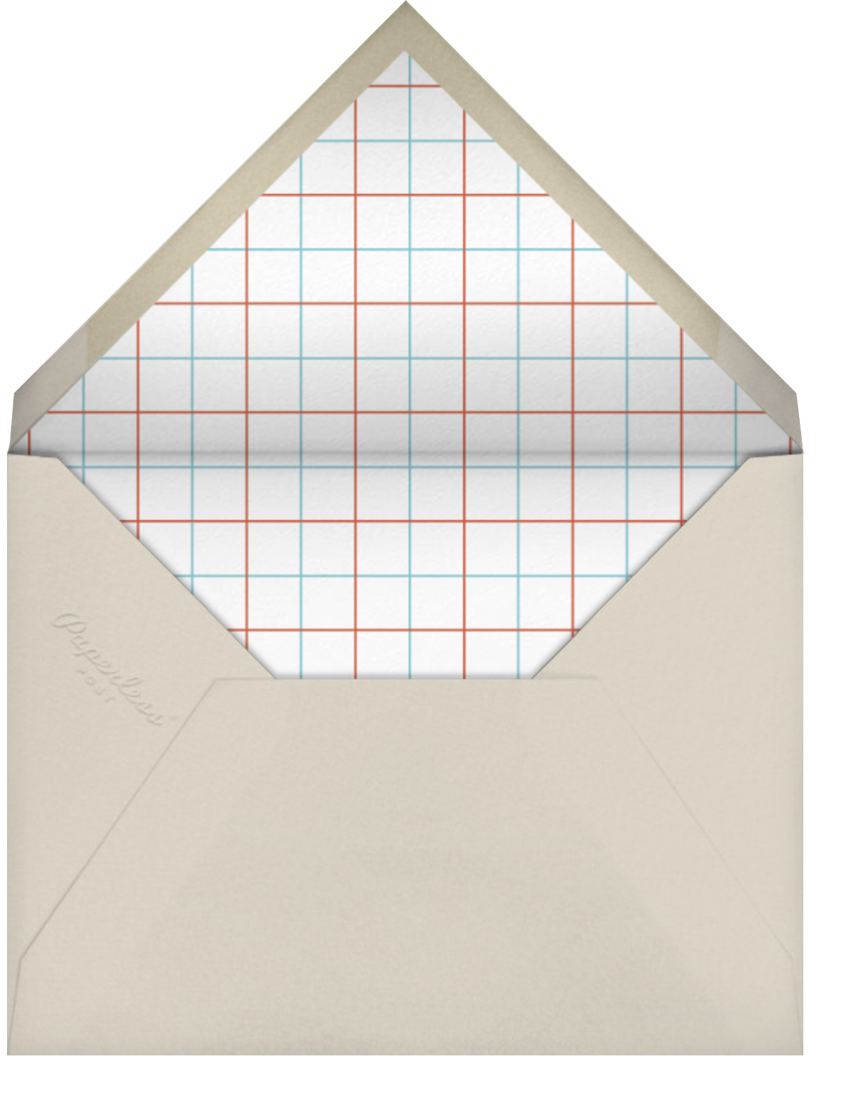 Library Card - Paperless Post - Book club - envelope back