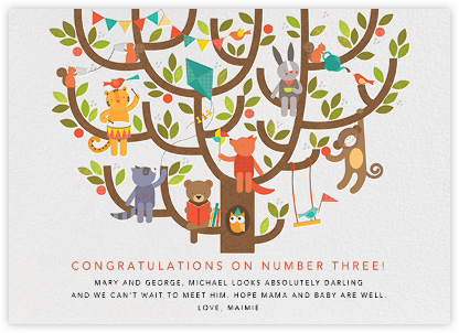 Tree Party - Congratulations (Baby) - Petit Collage - Congratulations cards