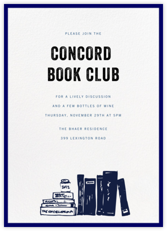 Contorno - Blue - Paperless Post - Book club invitations