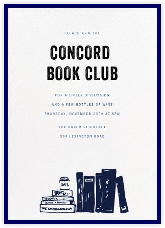 Contorno - Blue - Paperless Post - Book club invitations
