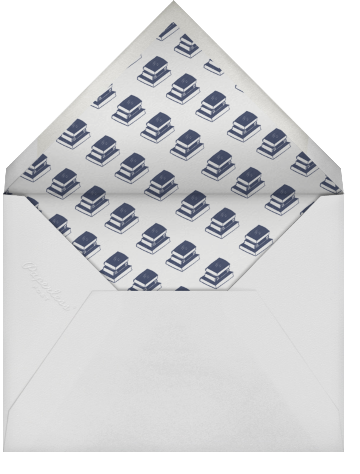 Contorno - Blue - Paperless Post - Book club - envelope back