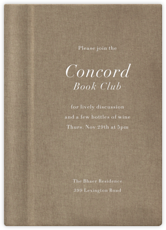 Natural Overprint - Tall - Paperless Post - Book club invitations