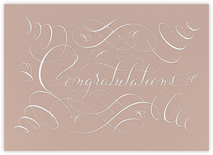Congratulations Flourish - Rose - Bernard Maisner - Wedding congratulations
