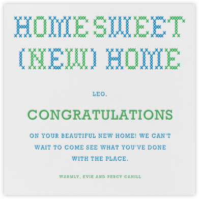 Home Sweet New Home - Paperless Post - Congratulations cards