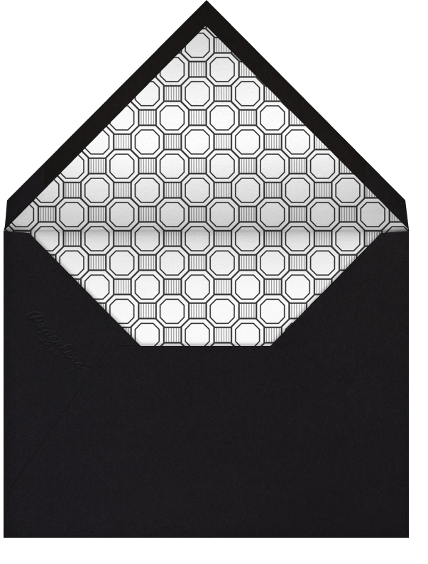 Claridge (Square) - Black - Paperless Post - Charity and fundraiser  - envelope back