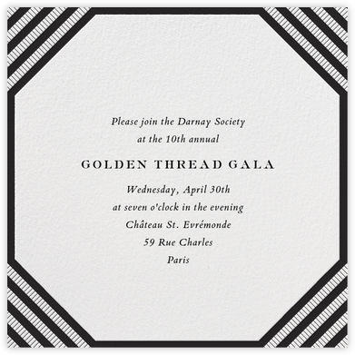 Claridge (Square) - Black - Paperless Post - Fundraiser Invitations