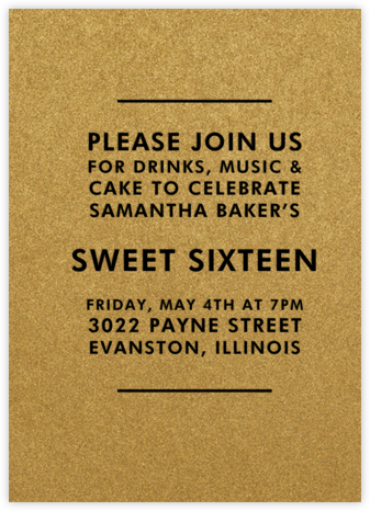 Fort Knox (Tall) - Paperless Post - Sweet 16 Invitations