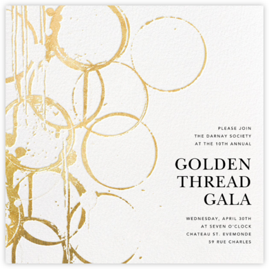 Bottle Shock - Gold - Kelly Wearstler - Fundraiser Invitations