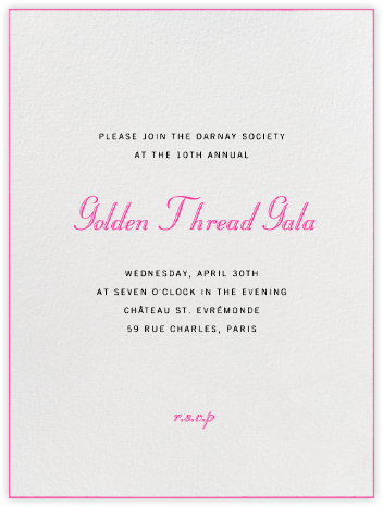 Edge Stain - Bright Pink and Ivory Tall - Paperless Post - Business event invitations