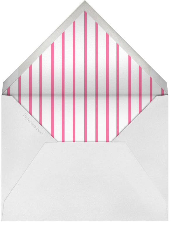 Edge Stain - Bright Pink and Ivory Tall - Paperless Post - Charity and fundraiser  - envelope back