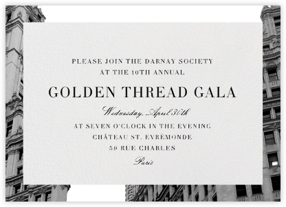 Cornice - Paperless Post - Charity and fundraiser invitations