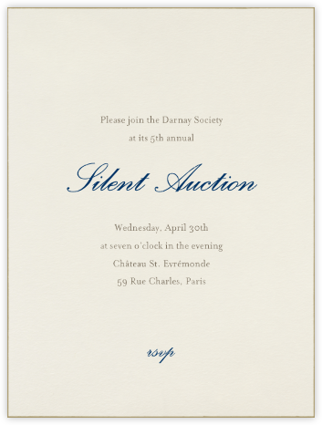 Edge Stain - Gold and Cream Tall - Paperless Post - Business event invitations