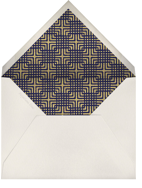 Edge Stain - Gold and Cream Tall - Paperless Post - Charity and fundraiser  - envelope back