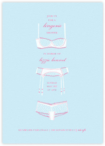 Underthings - Blue - Paperless Post - Bridal shower invitations