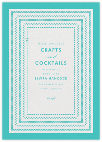 She's Crafty - Lagoon - Paperless Post - Bridal shower invitations