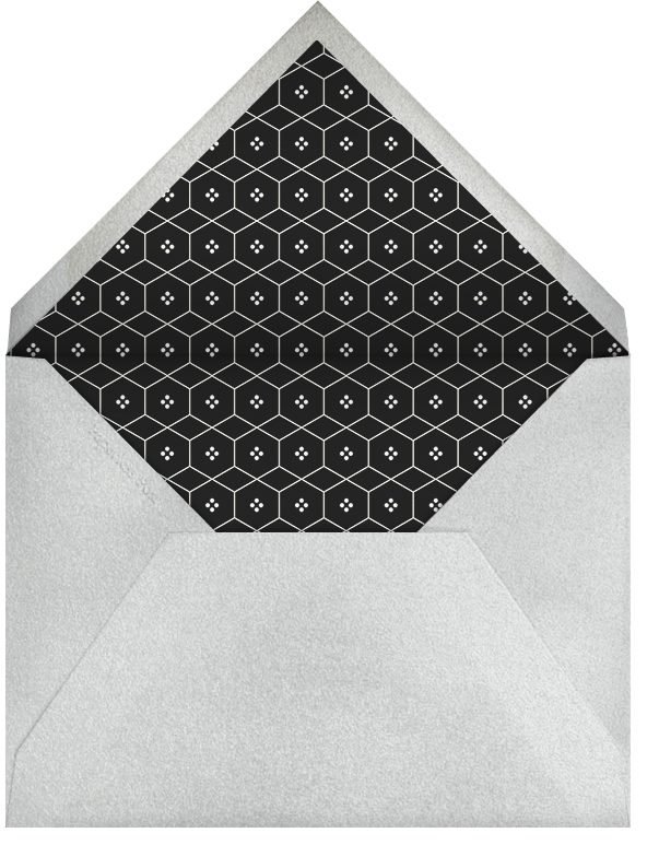 Black (tall) - Paperless Post - Charity and fundraiser  - envelope back
