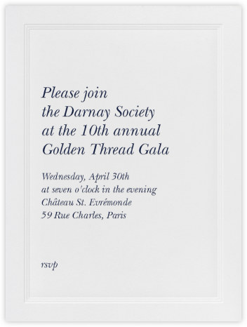 Triple Inner Bevel - Ivory (Large Tall) - Paperless Post - Charity and fundraiser invitations