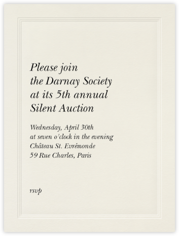 Triple Inner Bevel - Cream (Large Tall) - Paperless Post - Business event invitations