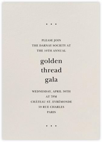 Cream - Tall - Paperless Post - Fundraiser Invitations