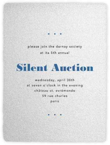 Deckle - Silver Tall - Paperless Post - Fundraiser Invitations