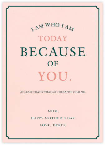 A Therapeutic Mom - Derek Blasberg - Mother's day cards