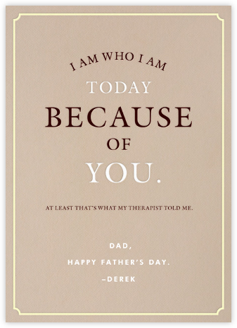 A Therapeutic Dad - Derek Blasberg - Father's Day Cards
