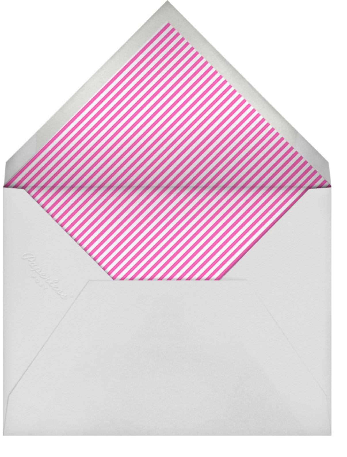 Stripe Border - Schiaparelli - Paperless Post - Charity and fundraiser  - envelope back