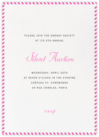 Stripe Border - Schiaparelli - Paperless Post - Business event invitations