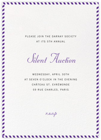 Stripe Border - Purple - Paperless Post - Business event invitations