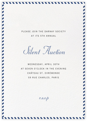 Stripe Border - Peacock - Paperless Post - Business event invitations