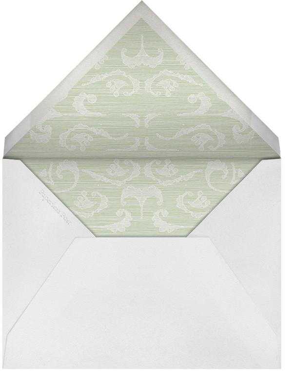 Green Velvet - Paperless Post - Charity and fundraiser  - envelope back