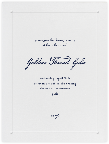 Square Embossed Corners - Blind Embossed (Large Tall) - Paperless Post - Charity and fundraiser invitations