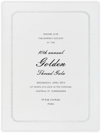 Inner Leaf Silver Bevel Border - Ivory Tall - Paperless Post - Business event invitations
