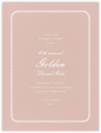 Inner Leaf White Bevel Border - Rose Tall - Paperless Post -