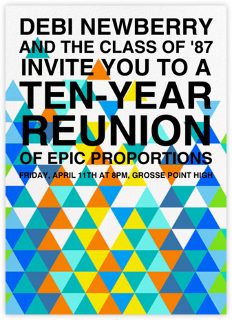 Kaleidoscope - Blue - Paperless Post - Reunion Invitations