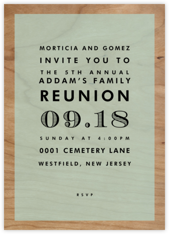 Wood Grain Color Block - Mint - Paperless Post - Celebration invitations