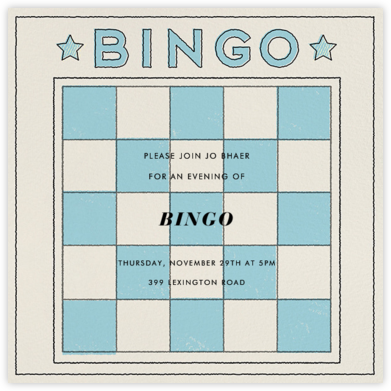Bingo Card - Paperless Post - Invitations