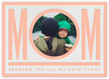 Mom - Peach - The Indigo Bunting -
